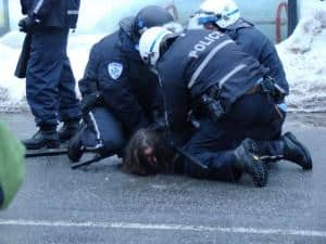 police using excessive force