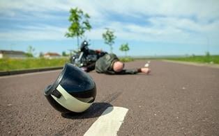 motorcycle road rash accident claim