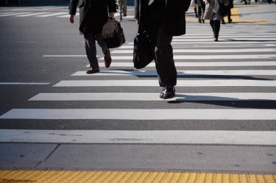 Georgia Pedestrians in a crosswalk